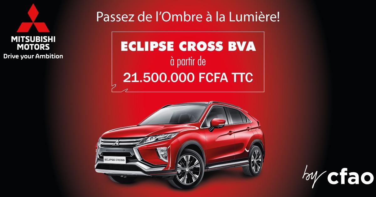 Nouveau Eclipse Cross à partir de 21.500.000 Frs CFA TTC